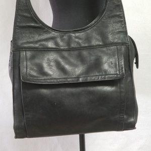 Fossil Black Leather Sholder Bag 75082